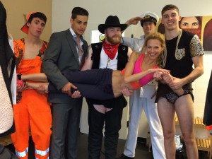 The new Chippendales and their coach Birte!